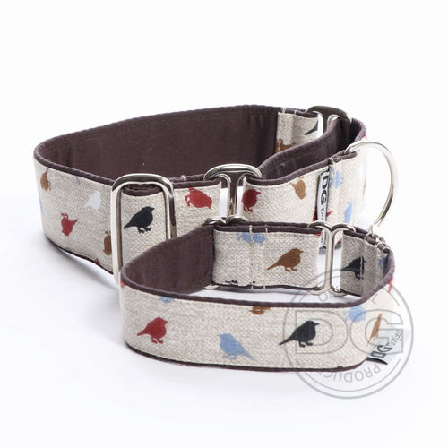 Halsband Martingale:   Natural Birds DG DogGear
