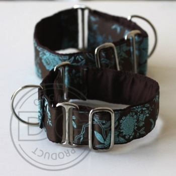 Halsband Martingale:   Brown Japan Garden   DG DogGear