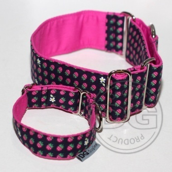Halsband Martingale:   Forestry Strawberries  DG DogGear