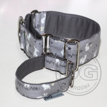 Halsband Martingale: Grey Rabbits