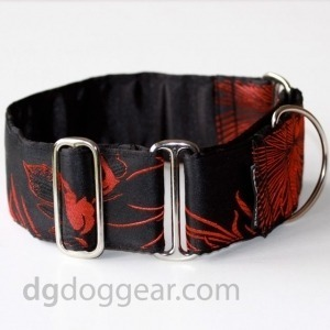 Halsband Martingale:   Red Fire Dragon   DG DogGear