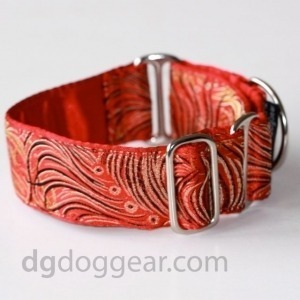 Halsband Martingale:   Bird Red Feathers   DG DogGear