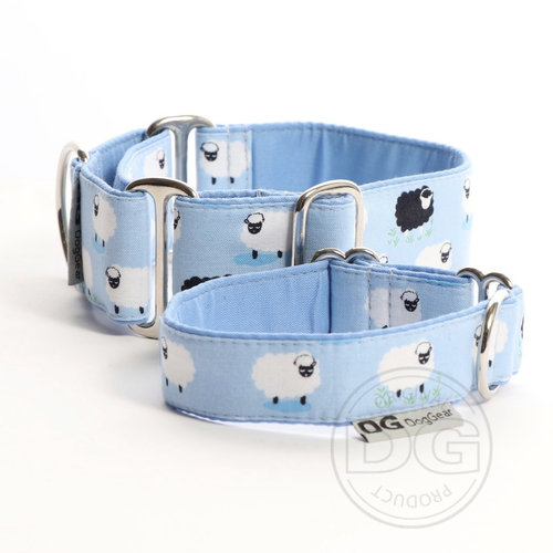 Halsband Martingale:   Sky Blue Sheep   DG DogGear